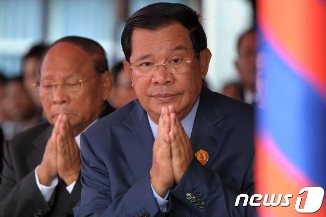 훈센 캄보디아 총리© AFP=뉴스1