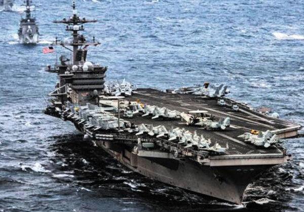 25일 한반도 해역에 도착할 예정인 미국 항공모함 칼빈슨호. /美 태평양 사령부