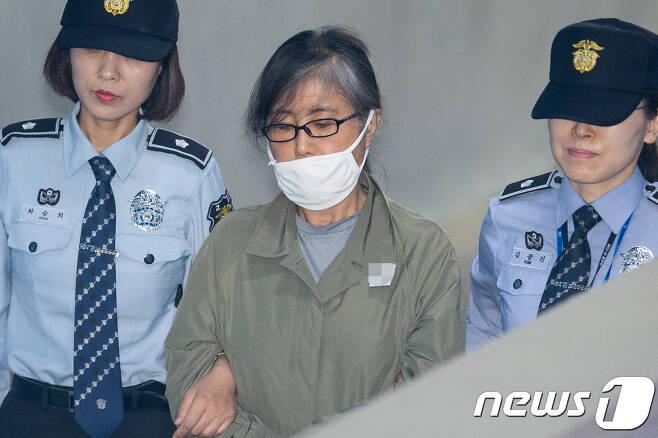 최순실씨© News1 유승관 기자