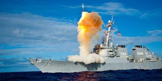 이지스함에서 발사되는 SM-3 요격미사일. (사진=미국 미사일방어국 제공)