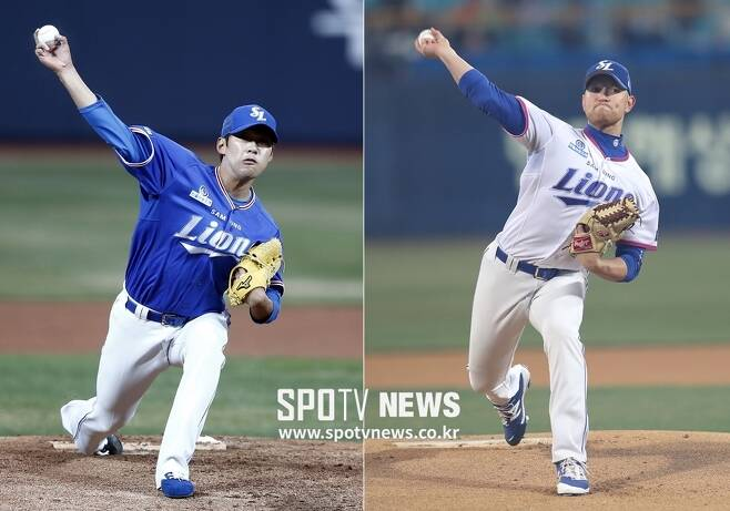 ▲ 삼성 선발진을 이끌고 있는 윤성환(왼쪽)과 페트릭 ⓒ 한희재, 곽혜미 기자
