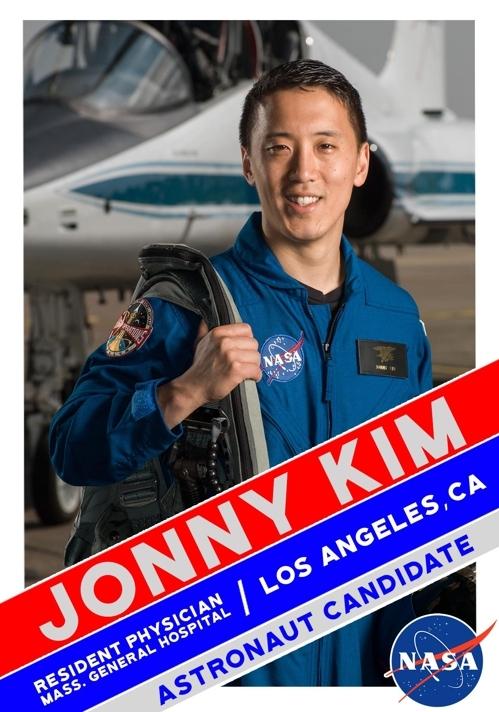 미국 항공우주국(NASA)가 선정한 우주비행사 후보에 선발된 한국계 미국인 조니 김(33)씨. [NASA 홈페이지 캡처]