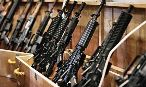 상파울루 주의 한 법원에 보관 중인 총기들[브라질 일간지 폴랴 지 상파울루]