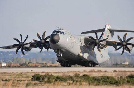 A-400M 수송기 이륙모습 [에어버스 인터넷 캡처]