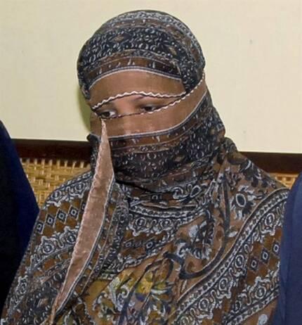2010년 11월 파키스탄 라호르 인근 감옥에 수용된 아시아 비비의 모습. AP 연합뉴스