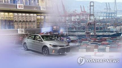 일본 수출규제 두달간 대한국 수출 비중 더 커져 (CG) [연합뉴스TV 제공]
