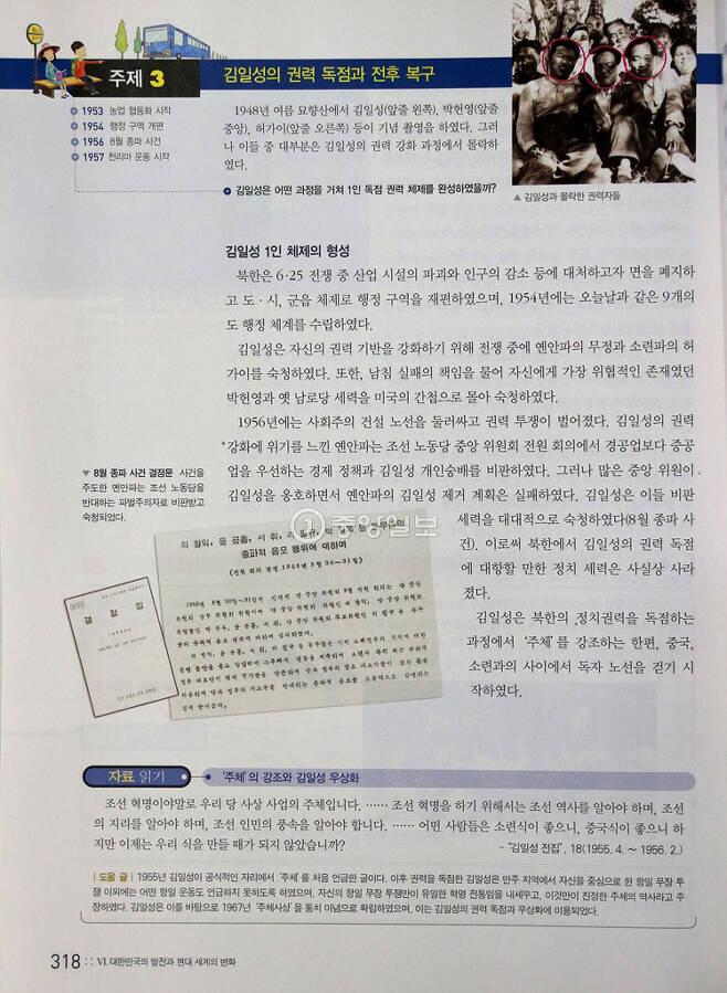 ▲ 북한 체제 소개 / 천재교육