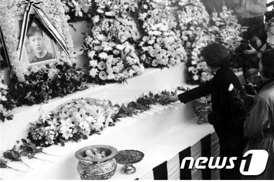 1996년 故 노수석씨 영결식장 모습. (노수석 열사 추모사업회 제공) © News1