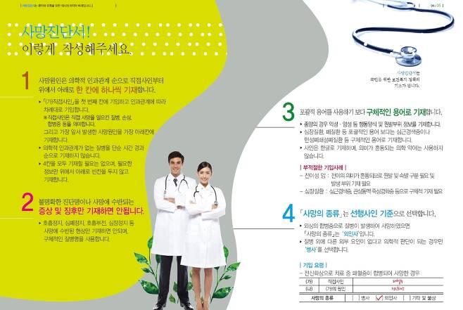 통계청이 발간한 사망진단서 작성 매뉴얼. 이 지침대로라면 서울대병원이 작성한 고 백남기씨의 사망진단서는 오류다.
