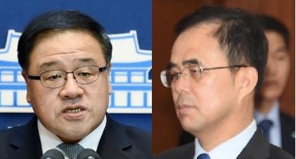 왼쪽부터 안종범 전 수석, 김종 차관