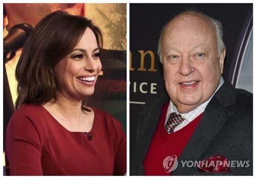 (뉴욕 AP=연합뉴스) 미국 폭스뉴스 프로그램 출연자의 한 명인 줄리 로긴스키(왼쪽)는 2015년 당시 회장이던 로저 에일스(오른쪽)으로부터 성희롱을 당했다며 3일(현지시간) 미 뉴욕 법원에 소송을 제기했다.