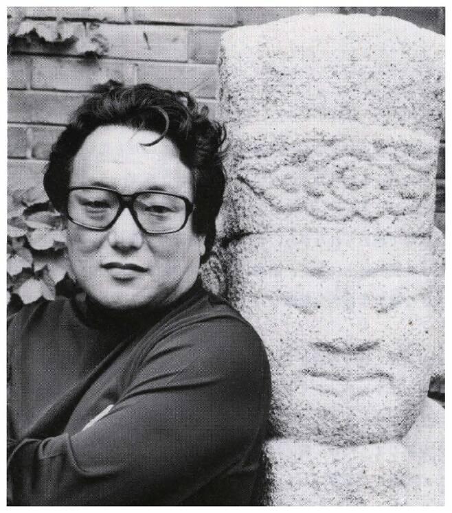 '불멸의 건축가', '한국 건축사의 거인'으로 불리는 김수근의 사진.  구미문화예술회관 제공