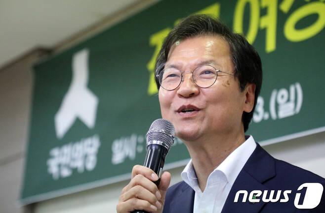 천정배 국민의당 대표 후보. © News1 장수영 기자