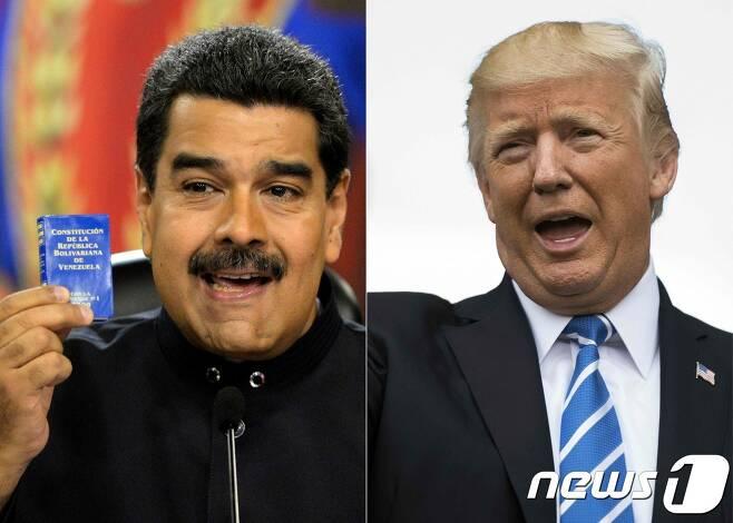 니콜라스 마두로 베네수엘라 대통령(왼쪽)과 도널드 트럼프 미국 대통령(오른쪽). (자료사진) © AFP=뉴스1