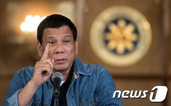 로드리고 두테르테 필리핀 대통령 <자료사진> © AFP=뉴스1