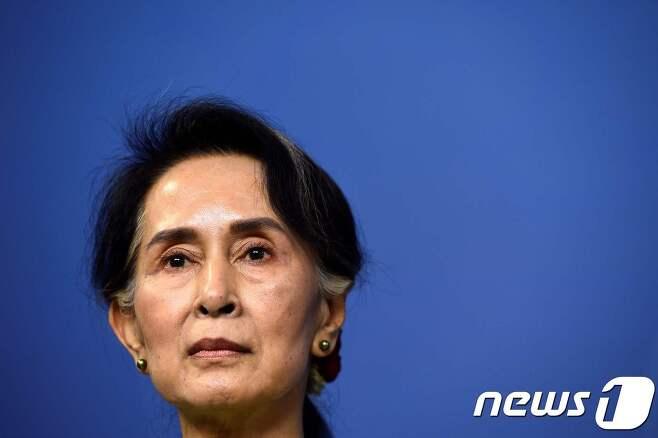 아웅산 수지 미얀마 국가자문역 겸 외무장관. © AFP=뉴스1