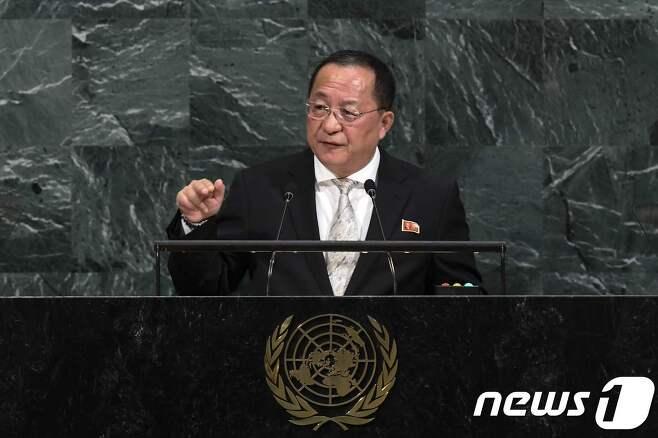 리용호 북한 외무상. © afp=뉴스1