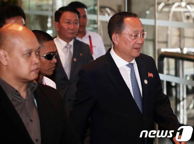 리용호 북한 외무상  2017.8.8/뉴스1 <자료사진> © News1 오대일 기자