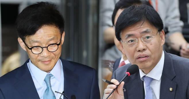 안태훈(왼쪽) 전 법무� �찰국장, 최교일 자유한국당 의원.서울신문 DB
