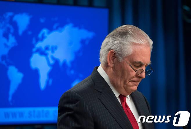 퇴임 연설을 하는 렉스 틸러슨 미국 국무장관. © AFP=뉴스1