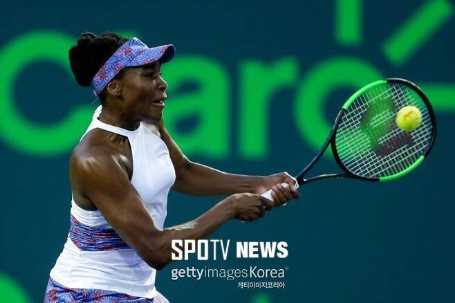 ▲ 2018년 WTA 마이애미 오픈에서 경기하는 비너스 윌리엄스 ⓒ GettyImages