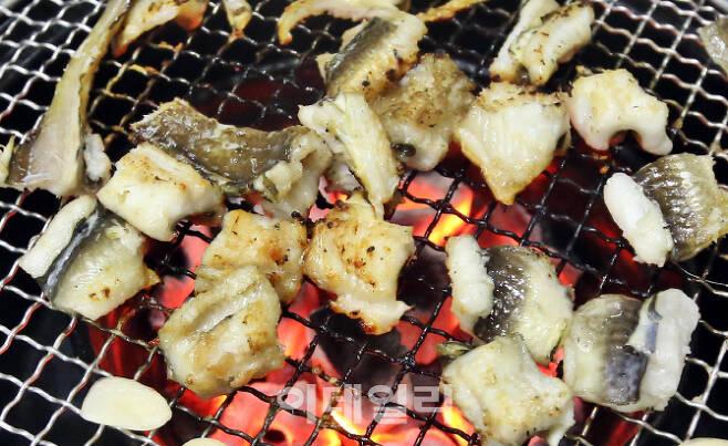 부산 서민 음식 중 하나인 '붕장어구이'