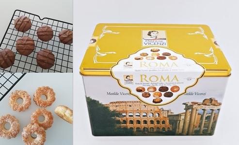 수제디저트 업체 '미미쿠키'는 온라인에서 판매한 쿠키류 일부(왼쪽)가 코스트코에서 구입한 제품(오른쪽)을 재포장한 것이라고 인정했다. 2018.9.26 인터넷 직거래장터 N카페, 인터넷쇼핑몰 캡처