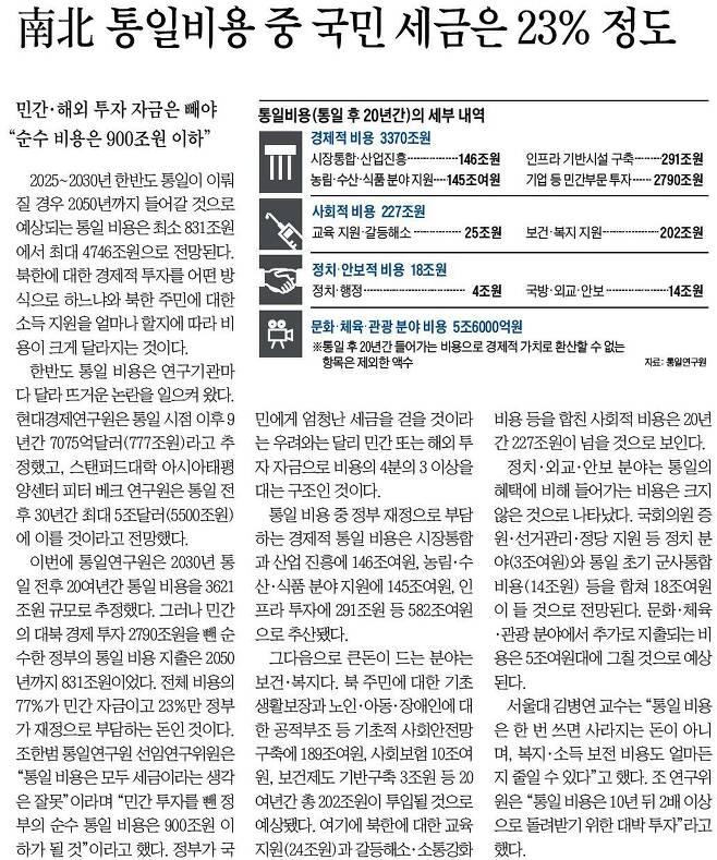 조선일보 2014년 1월 6일자 기사.