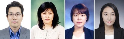 왼쪽부터 경북대 배재성·진희경 교수, 박민희 박사후연구원, 이주연 박사과정 [한국연구재단 제공=연합뉴스]