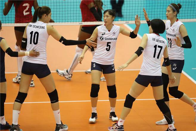 ▲ 한국 여자 배구 대표 팀 ⓒ FIVB 제공