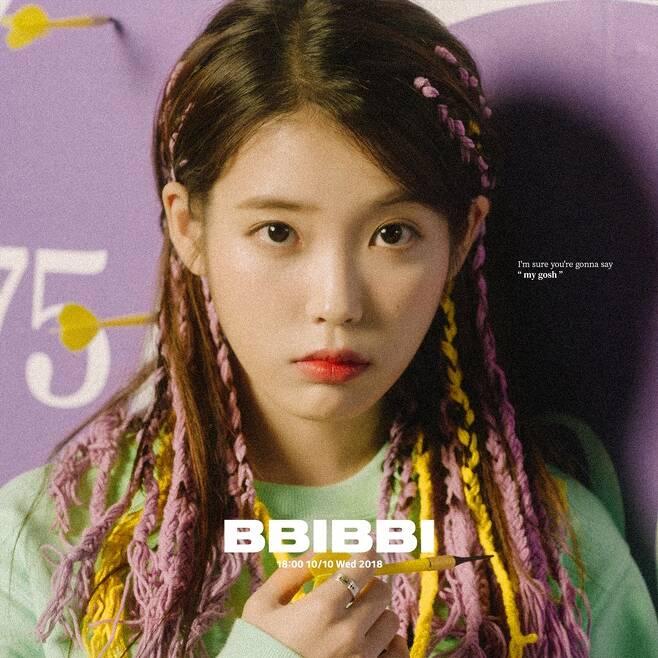 ▲ 가수 아이유의 신곡 '삐삐'가 가온차트 43주차 2관왕에 올랐다. 제공 카카오M