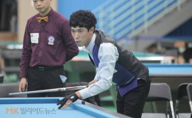 8강에서 김라희와 만나는 김형곤(강원‧8위). 김형곤은 16강전에서 김재근(인천‧9위)을 꺾었다.