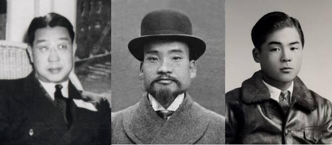 왼쪽부터 유한양행을 세운 유일한 선생, 동화약방(동화약품)의 초대 사장 민강 선생, 교보생명의 창업주 신용호 선생.