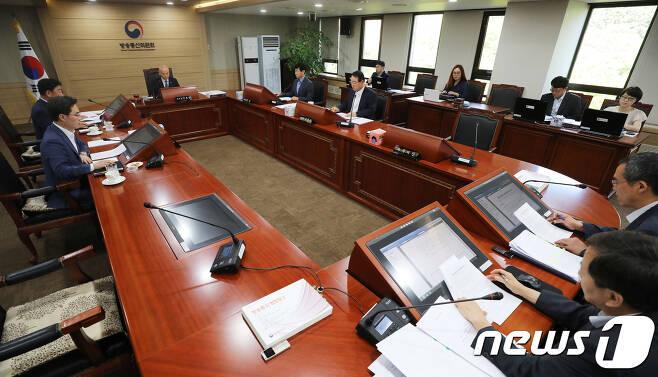 방송통신위원회 전체회의 모습. 뉴스1 © News1