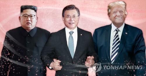 문재인 대통령 중재외교 (PG) [최자윤 제작] 사진합성·일러스트