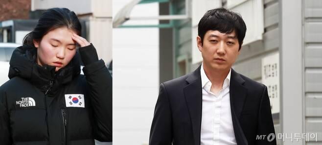 쇼트트랙 국가대표 선수 심석희(왼쪽)와 전 국가대표 코치 조재범.