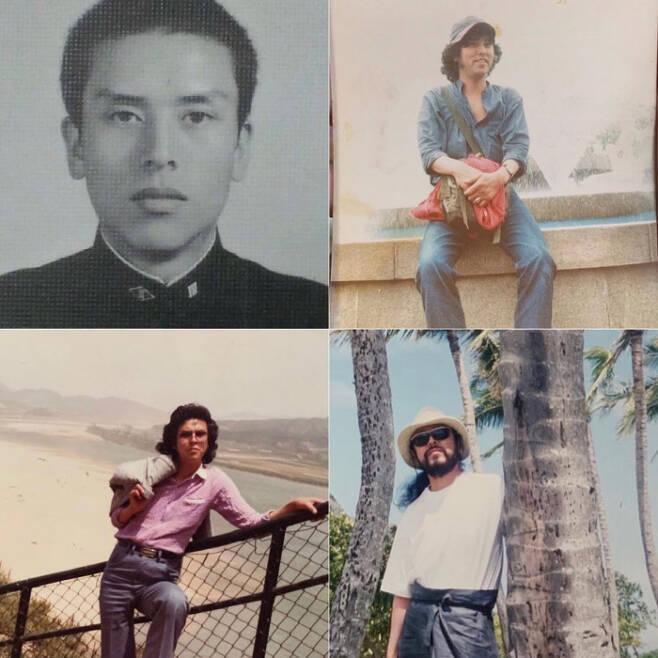 김칠두씨의 젊은 시절 모습. (왼쪽 위부터 시계방향) 1974년 촬영한 고등학교 졸업사진. 23살이던 1978년 서울 대공원에서 촬영한 사진. 2006년 태국 여행 때 찍은 사진. 25살이던 1980년 부여 낙화암에서 촬영한 사진. 김칠두씨 인스타그램