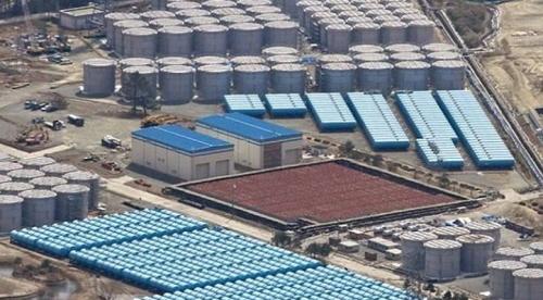 후쿠시마 제1원전 부지에서 보관중인 오염수. 약 110만톤을 보관하는 것으로 전해진다. 일본 환경금융연구기구 캡처