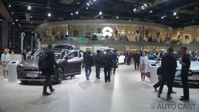 중국 전기차 브랜드 니오(NIO) 부스 @2019 상해모터쇼