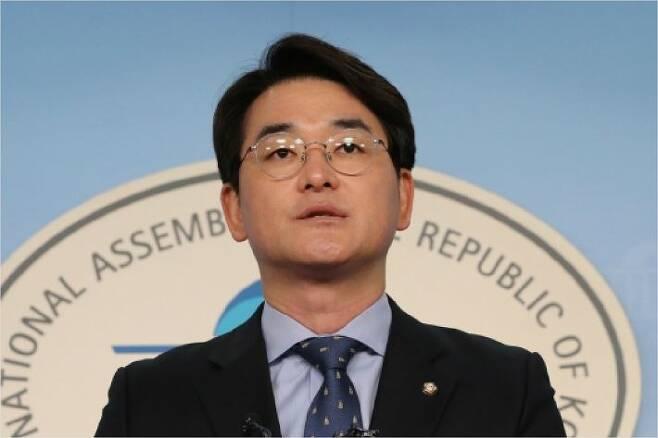 7일 박용진 더불어민주당 의원이 국회에서 기자회견을 진행하고 있다.사진=연합뉴스