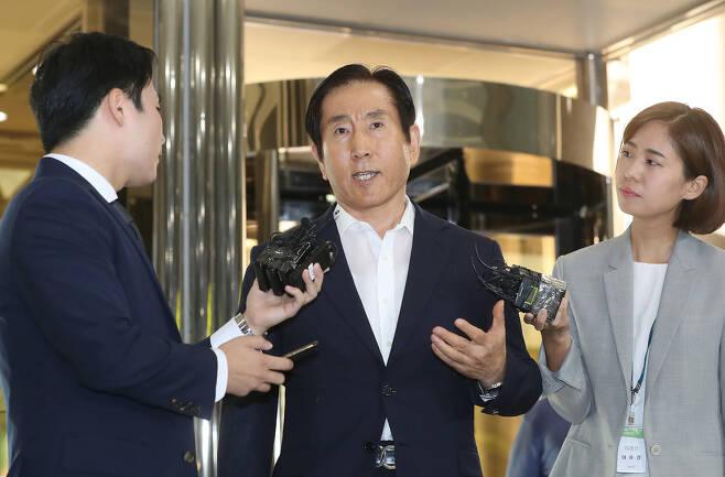 장자연 사건 수사 당시 조선일보의 협박을 받은 조현오 전 청장. 신소영 기자 viator@hani.co.kr