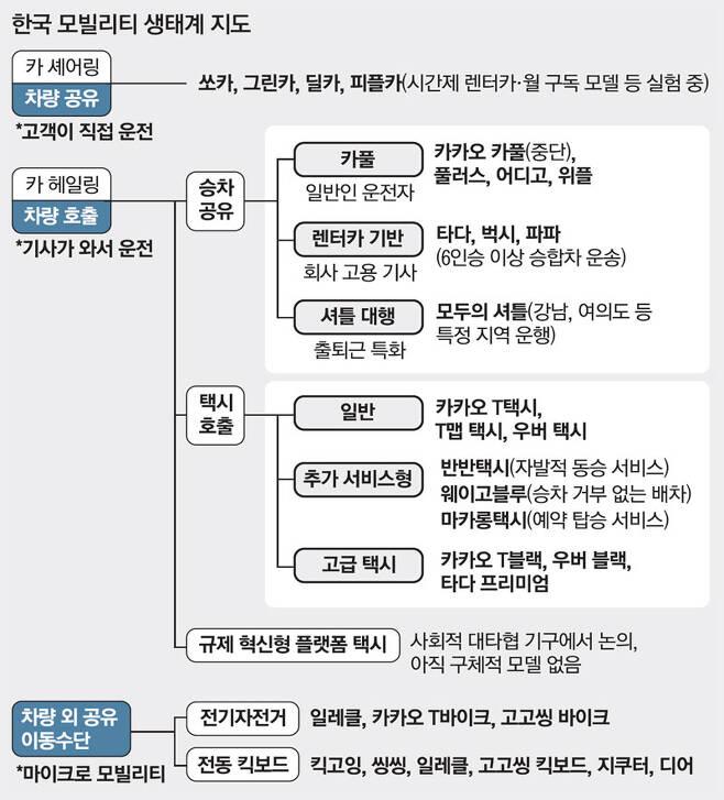 막아선 택시·손놓은 정부..'모빌리티 혁신' 꽉 막힌 한국
