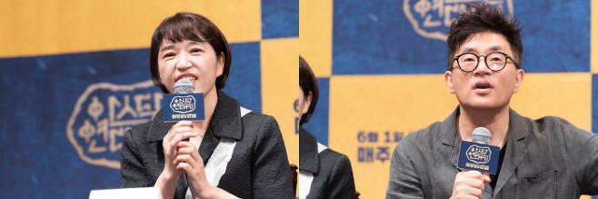 '아스달연대기' 김영현 박상연 작가. 사진제공 tvN