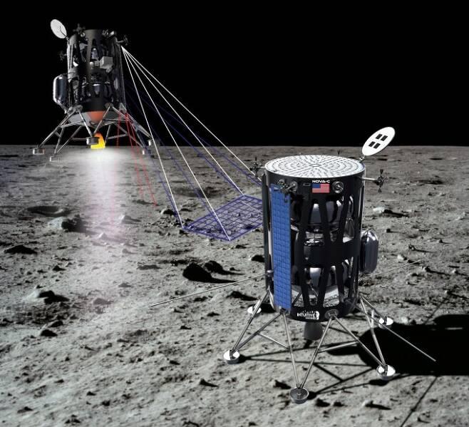 인튜이티브 머신스는 5개 화물을 실은 달 탐사선을 ′폭풍의 바다′에 보낸다. 인튜이티브 머신스 제공