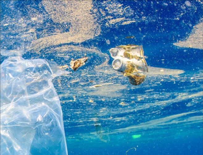 바다에 떠다니는 미세플라스틱.   | 세계자연기금 제공
