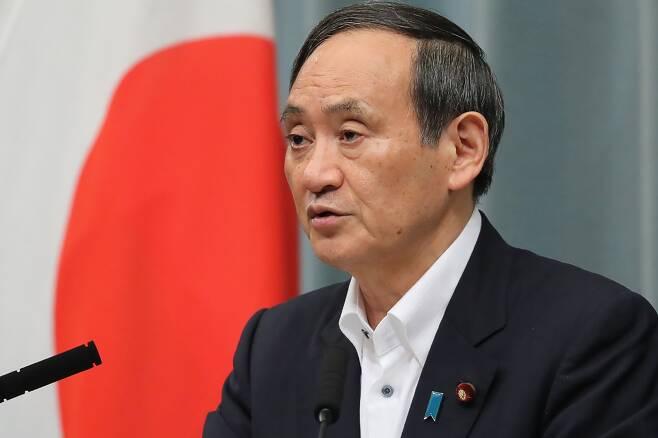 스가 요시히데 일본 관방장관. 사진과 기사 내용은 직접적인 관련은 없음. /사진=AFP
