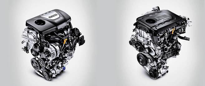 (왼쪽부터) 코나 1.6L 가솔린 터보 엔진, 1.4L 디젤