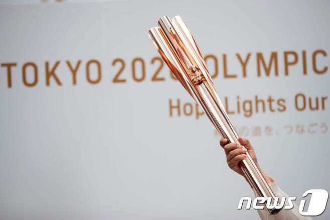 도쿄 2020 올림픽 성화봉© AFP=뉴스1