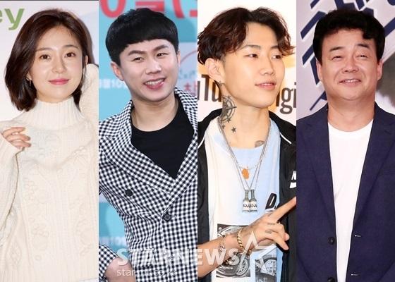 백진희(왼쪽부터), 양세형, 박재범, 백종원/사진=스타뉴스
