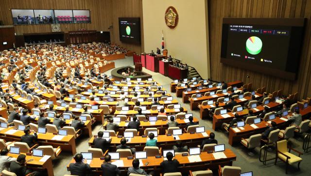 지난 2일 회의가 열린 국회 본회의장의 모습./연합뉴스